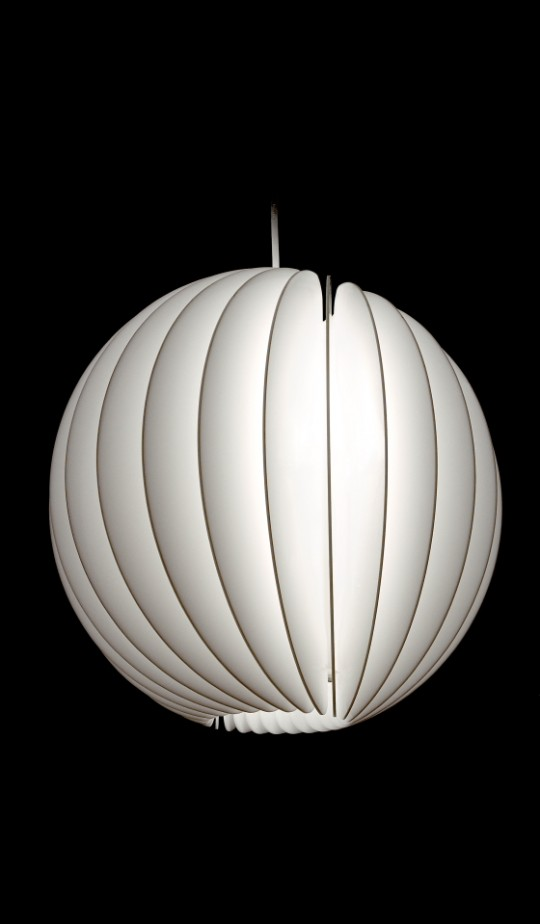 'Anna P pendant light' - D+ by Dean Homicki - 2001-2004 - Sand Blasted white opaque acrylic - Image John Gollings